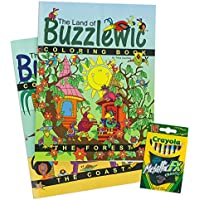 Coloring Books For Children The Land of buzzlewic – 3 Pieceフォレストand Coast Book and 16メタリッククレヨンセット