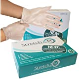 Box of 200 Disposable & Recyclable Gloves - Powder, Latex and Allergy Free - Work, Food Preparation, Cleaning