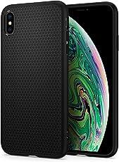 【Spigen】 スマホケース iPhone XS Max ケース 対応 TPU 米軍MIL規格取得 耐衝撃 リキッド・エアー 065CS25126 (マット・ブラック)