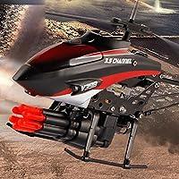 Rabugoo ヘリコプター 2 モーターズ ミニ リモートコントロール 航空機 6 ミサイル 子供 プラスチック ヘリコプター 玩具 クリスマス ギフト