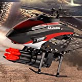Liebeye 航空機 ミニ リモート コントロール 子供 プラスチック ヘリ コプター 玩具 クリスマス ギフト 2モーター 6ミサイル グリーン