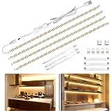 LED Under Cabinet Lighting Kit 6.5ft, USB 1100LM LED Ribbon Strip Lights Bars, Under Counter Lighting for Kitchen, Showcase,C