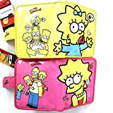 The Simpsons Family Pink & Yellow Wallet Set Homer Lisa Marge Bart