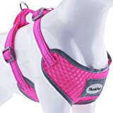 """ThinkPet Reflective Breathable Soft Air Mesh Puppy Dog Vest Harness Neon Rosary Neck 16.5-20""""/Chest 18.5-25.5"""""""