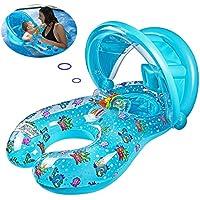 浮き輪 子供用 浮き輪 親子 2人用 足入れ うきわ ベビー 浮輪 大人用 水遊び 水泳 プール スイム リング 海 用 フロート 室内でのプールでも最適です。海、プールなどの夏場の活動で適合します