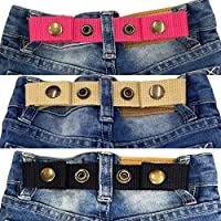 Sister Selected Adjustable Snap Belt for Baby/Toddler Boy & Girl Pant - 3 Pack:
