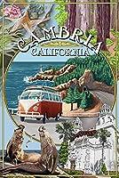 Cambria、カリフォルニア–モンタージュ 24 x 36 Giclee Print LANT-45267-24x36