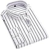 HeiKi ビジネスシャツ メンズ ストライプ 長袖 細身シャツ 秋 ボタンダウン レギュラーフィット ワイドカラー Yシャツ オールシーズン