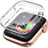 LELONG Case for Apple Watch Series 5 4 3 2 Screen Protector 38mm 42mm 40mm 44mm, Soft TPU All-Around Clear Protective Cover f