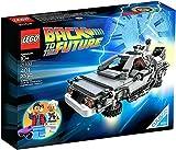 おもちゃ LEGO レゴ The DeLorean Time Machine from Back To The Future with Doc Brown & Marty McFly Minifigures and Accessories ..