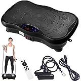 Yescom 3500W Slim Fitness Vibration Machine Platform Vibration Plate Exercise Trainer Machine with Bluetooth Black