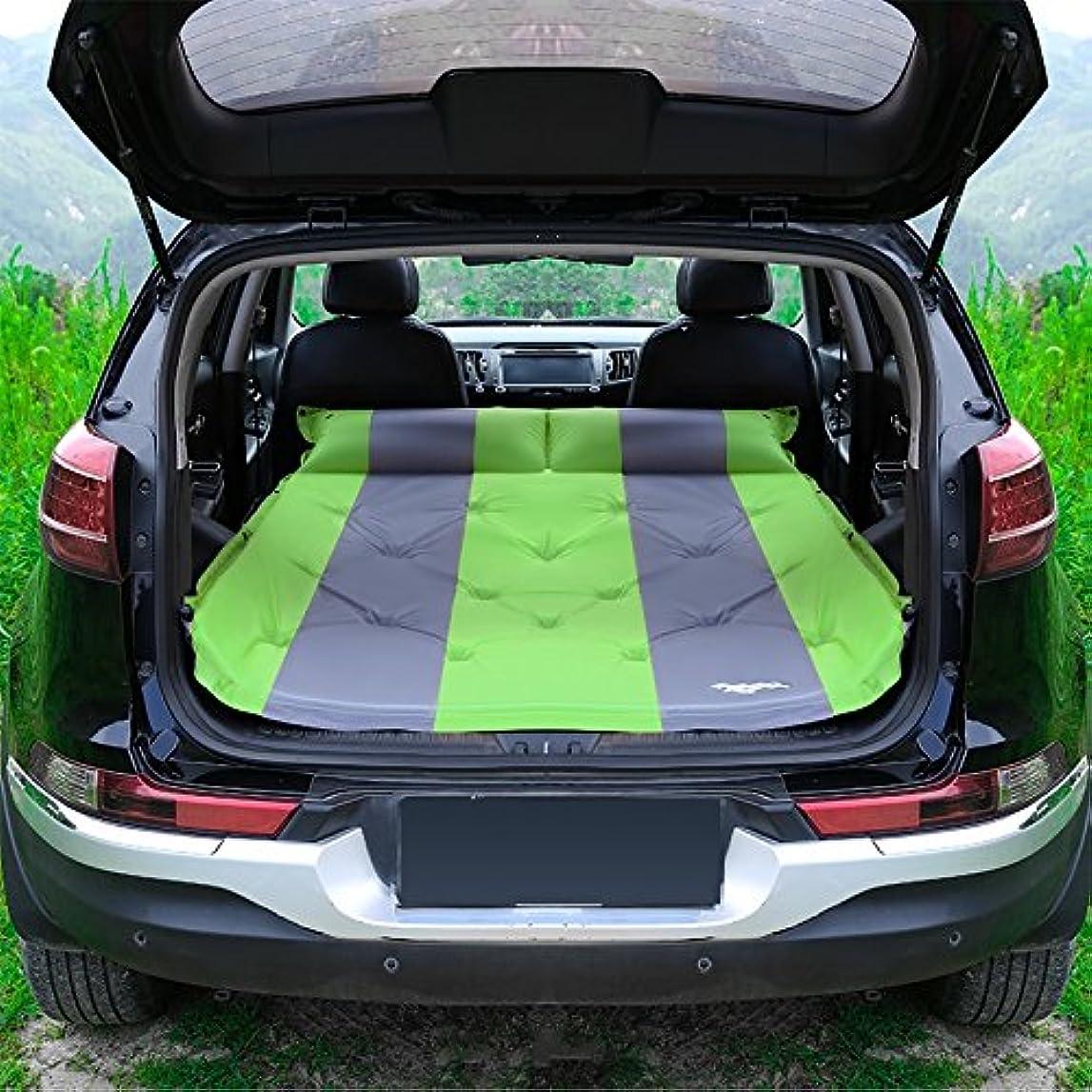 チャレンジ広大なメトロポリタンGYP 屋外UVユニバーサルポータブル自動インフレータ車のベッドインフレータブルベッドエアベッド車のベッド車の衝撃ベッド寝袋 ( 色 : 緑 )