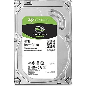Seagate 内蔵ハードディスク 3.5インチ 4TB PCユーザー向け BarraCuda ( SATA 6Gb/s / 5900rpm / 2年保証 ) 正規代理店品 ST4000DM005