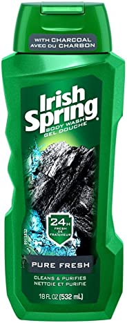 Irish Spring Pure Fresh Body Wash By Irish Spring for Unisex - 18 Oz Body Wash, 18 Oz