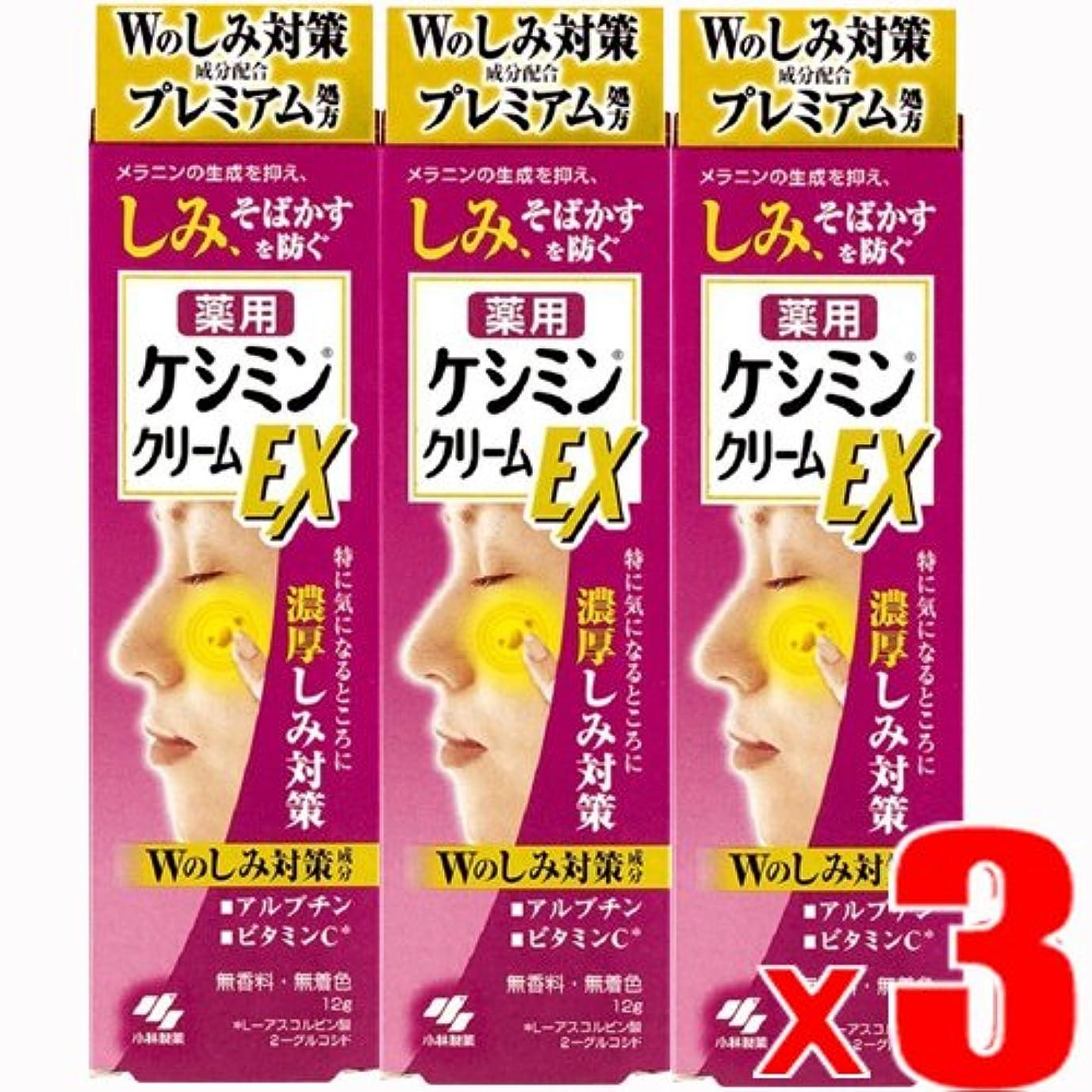 目覚める経験にはまって【3個】ケシミンクリームEX 濃厚シミ対策 塗るビタミンC アルブチン 12gx3個 (4987072047590-3)