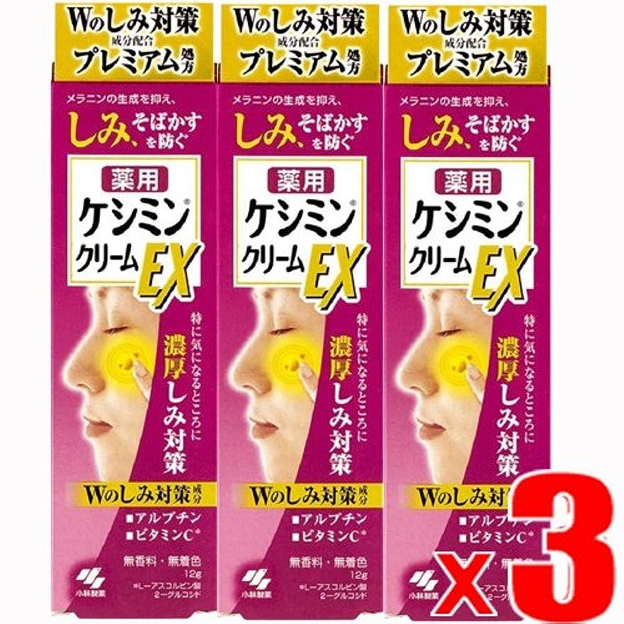 梨流産成功【3個】ケシミンクリームEX 濃厚シミ対策 塗るビタミンC アルブチン 12gx3個 (4987072047590-3)