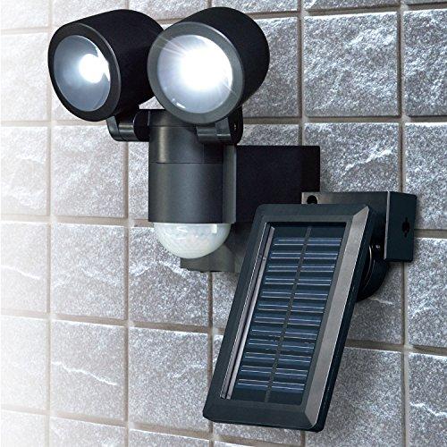 エルパ LEDセンサーライト ソーラー発電式 2灯 ESL-N102SL