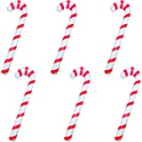 Poptrend 6PK Inflatable Candy Cane with Pump, Christmas Party Decorations, Perfect Blow Up Yard Decoration, Indoor Outdoor Ya
