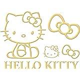 セイワ(SEIWA)ハローキティ 車用 ステッカー エンブレム ゴールド 1枚入り ドレスアップ KT546 HELLO KITTY