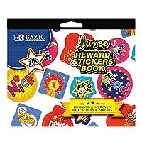 BAZIC Jumbo Rewardステッカーブック、24のケース( 3870–24)