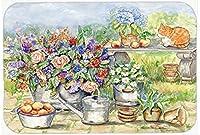 Caroline's Treasures Patio Bouquet and Cat Mouse Pad Hot Pad or Trivet Multicolor (APH3567MP) [並行輸入品]