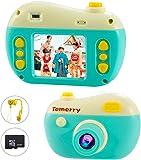 兒童相機 兒童相機 2000萬像素 4,500張連續照片 視頻 連拍 定時拍攝 2.0英寸IPS畫面 兒童玩具 兒童禮物 多功能 USB充電 日語使用說明書 (green)