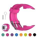 Garmin Forerunner 10 / Forerunner 15 GPS Running Watch Replacement Band - Feskio Soft Silicone Replacement Wrist Watch...