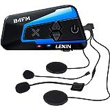 LEXIN バイク インカム 10riders 4riders 最大10人同時通話 音楽共有 インカム FMラジオ B4FM インカム バイク Bluetooth5.0防水インターコム バイク用インカム 音楽再生 音声コマンド IP67防水 無線機い