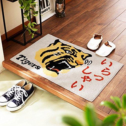 [ベルメゾン] 阪神タイガース 玄関マット 屋内 室内 すべりどめシート付き 約50cm×約80cm