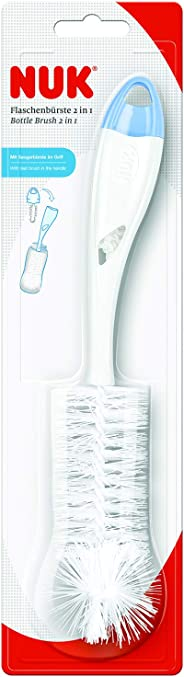 NUK Bottle, Teat Brushes Set 2 in 1, Assorted