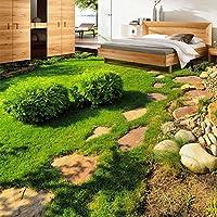 Lwcxカスタム3d床タイル壁紙モダングリーン植物Grass写真壁画リビングルームバスルームPVC防水Wear床壁ペーパー LWBS71114517