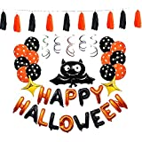 ハロウィンバルーンHappy Halloween Hanging Decoration Spooky Creatures Hanging Halloweenパーティー装飾Ind