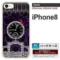 iPhone8 スマホケース カバー アイフォン8 妖精と時計 ゴシック灰 nk-ip8-1252