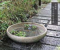 信楽焼 手ひねり特大 窯変(大型) すいれん鉢 メダカ鉢 睡蓮鉢 スイレン鉢 金魚鉢 水鉢 陶器 su-0207