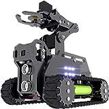 Adeept RaspTank WiFi Wireless Smart Robot Car Kit for Raspberry Pi 3 Model B+/B/2B, Tank Tracked Robot with 4-DOF Robotic Arm