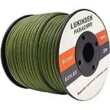 Lukinsen パラコード 9芯 4mm 30m/50m パラシュートコード 耐荷重280kg ガイロープ テントロープ キャンプ アウトドア アクセサリー制作用
