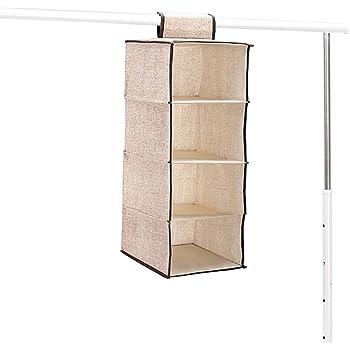 Grandmart 吊り下げ クローゼット 衣類ラック 折り畳み 収納 整理 すき間収納