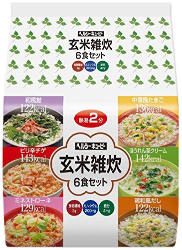 ヘルシーキユーピー 玄米雑炊 6食セット 6食
