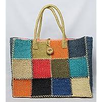 アバカ 手編み トート かごバッグ