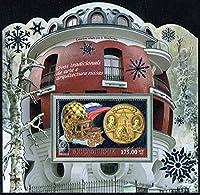 銀箔切手☆ロシアの建築 モザンビーク2012年小型シート 車・変形シート