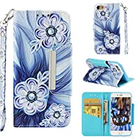 Abtory Leather Wallet ケース for iPhone 8,[Kickstand] Flip Folio ケース with ID Credit Card Pockets,Folding Stand Protective Cover for iPhone 8 Flower