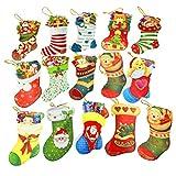 クリスマスカードセット グリーティングカード ミニポストカード サンタクロース 靴下 かわいい ツリー飾り 贈り物 15枚組