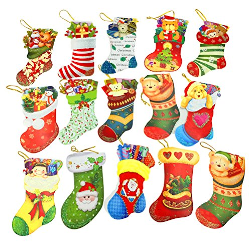 クリスマスカードセット グリーティングカード ミニポストカード サンタクロース 靴下 かわいい ツリ...