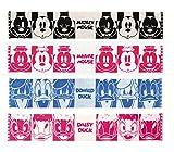ディズニー マフラータオル 4種セット (ミッキー・ドナルド・ミニー・デイジー) スリムロングタオル