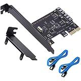 SATA拡張ボード6Gbps超高速PCI-E to SATA 3.0 2ポート拡張カードと2つのSATA 3.0データラ…