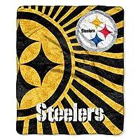 Northwest 1NFL-06501-0078-RET Strobe-Steelers NFL Sherpa Throw 50x60
