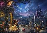 【2017最新作】 西洋絵画 ディズニー 美女と野獣 ダンシング イン ザ ムーンライト 42x30cm トーマスキンケード Beauty and the Beast - Dancing in the Moonlight
