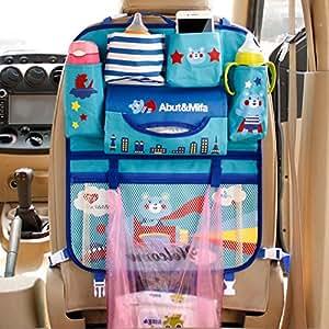 liankeshop 5色選択可能 厚手の洗えるカートンシートバックポケット シートぶら下げ袋 収納袋 カーシートバック収納袋 車用収納ポケット 取り付け簡単 収納 袋 かわいい IPADソートバッグ