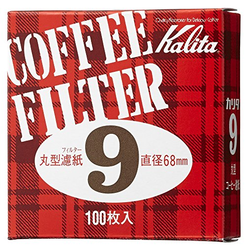 カリタ コーヒーフィルター モカエキスプレス用 #9 丸形濾紙 68mm 100枚入り #21009