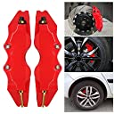 KKmoon キャリパーカバー フロントリアオートユニバーサルキット ABS Sサイズ 2PCSセット